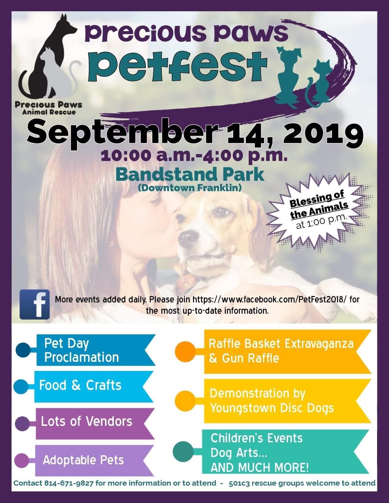 Precious Paws Petfest September 14, 2019