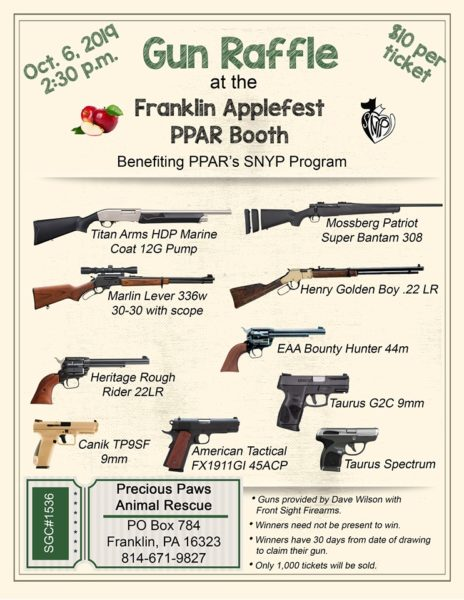 Gun Raffle at Applefest