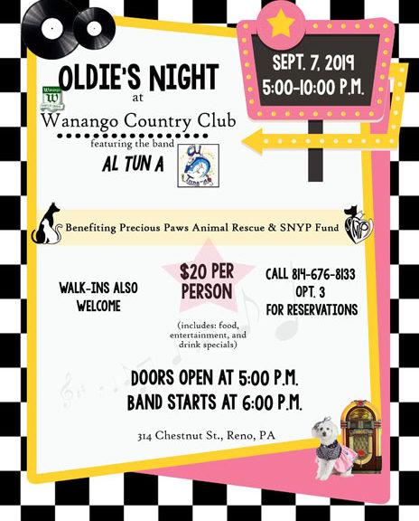 Oldies Night Fundraiser
