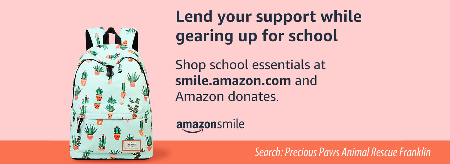 Donate by Shopping at smile.amazon.com
